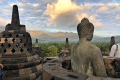 Boeddha's op de Borobudur
