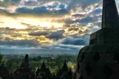 Zonsopkomst op de Borobudur