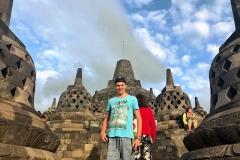 Hugo op de Burobudur