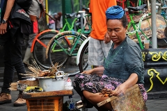 Saté-verkoper op Malioboro Street