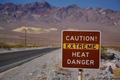 Caution Extreme Heat Danger