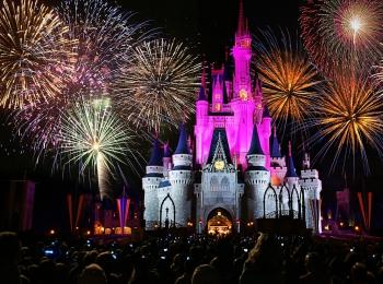 Vuurwerkshow in Disneyland California