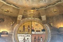 Tribal Art in de desert view watchtower