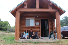 Onze blokhut bij Zion Ponderosa Ranch