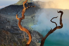 Kratermeer van vulkaan Ijen
