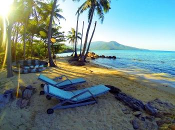 Relaxen aan het strand