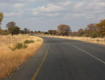 Eindeloze wegen in Botswana