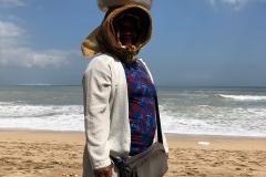 Fruitverkoper op Kuta Beach