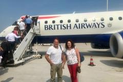 Met British Airways vliegen we naar Londen