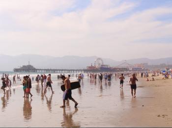 Strand bij Santa Monica