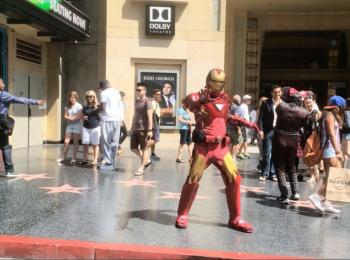 Iron-Man op Hollywood Blvd