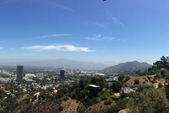 Uitzicht over Los Angeles in  Hollywood Hills