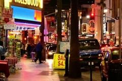 Hollywood blvd by night