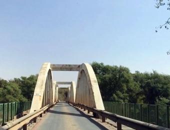 Groblersbrug, de grens met Botswana