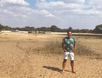 Rene in Khama Rhino Sanctuary