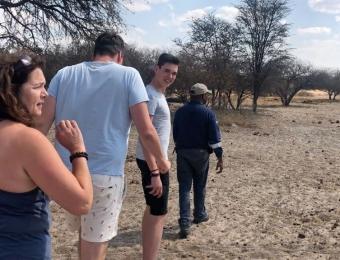 Wandelen in Khama Rhino Sanctuary