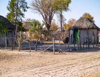Afrikaanse huisjes in Gweta town