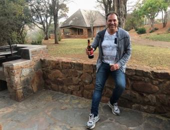 Een Lion biertje verdient bij aankomst in Blyde a Forever Resort