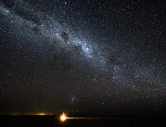 Spectaculaire sterrenlucht op de Nwetwe Pan