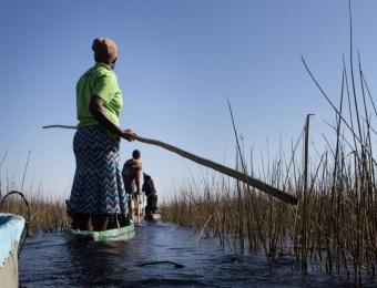 Varen door okavango delta