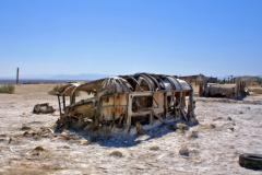 Bombay Beach abandoned trailer