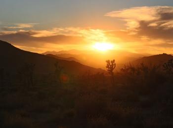 Een bijzondere zonsondergang