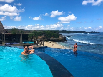 Infinity Pool bij Dream Beach Huts