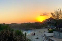 Zonsondergang bij Dream Beach
