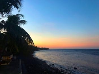 Zonsondergang bij Tulanben DIve Resort
