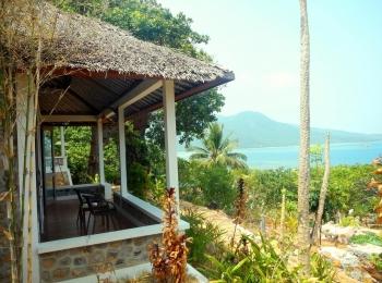 We hebben een mooi uitzicht op zee in Breve Azurine Lagoon Resort
