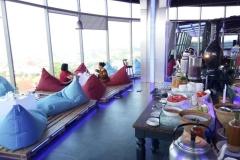 Ontbijten met uitzicht over Semarang