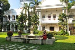 De binnentuin van Hotel Majahapit