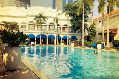 Lekker zwemmen in Hotel Majahapit