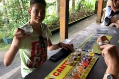 Koffie proeven bij een koffieplantage op Bali