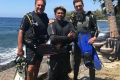 Samen met de Diving instuctor