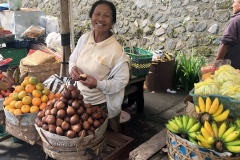 Fruitverkoper bij de Pura Besakih