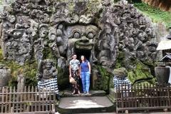 De ingang van Goa Gajah olifantgrot