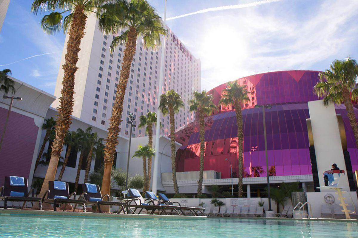 Het zwembad van Hotel Circus Circus