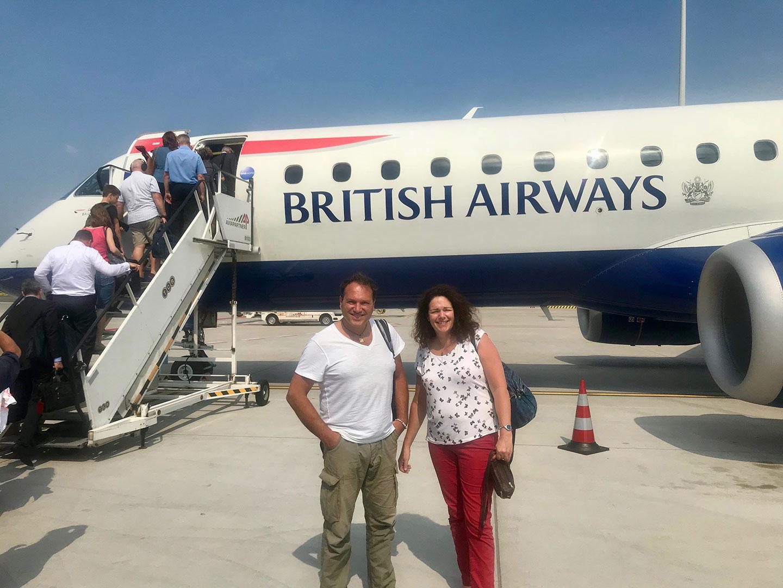 Met British Airways vliegen we eerst naar Londen en vervolgens naar Bali