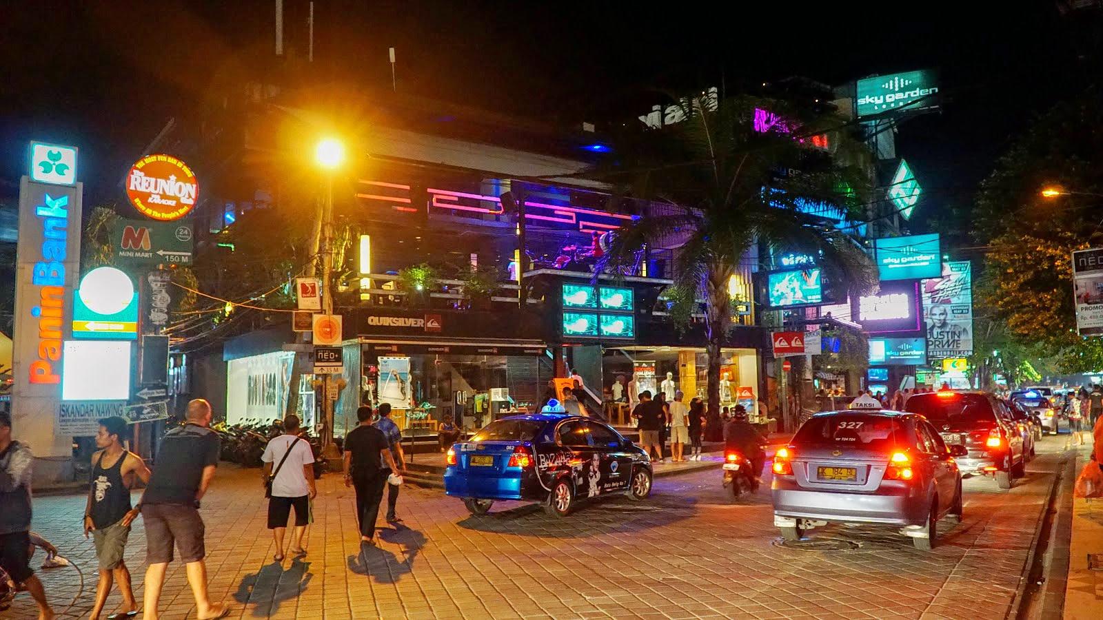 Kuta Bali by night