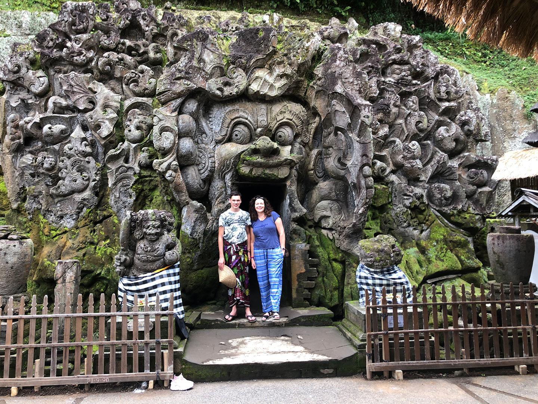 De ingang van Goa Gaja, de olifant tempel