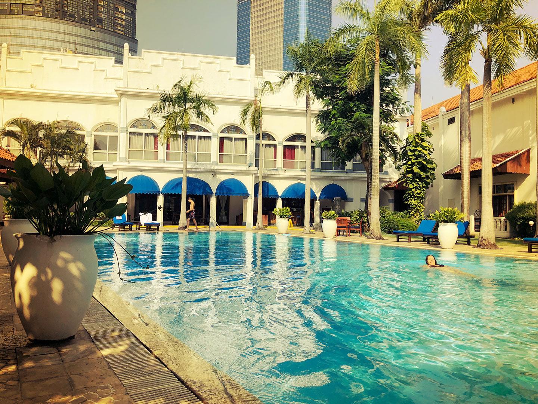 Zwembad in Hotel Majahapit