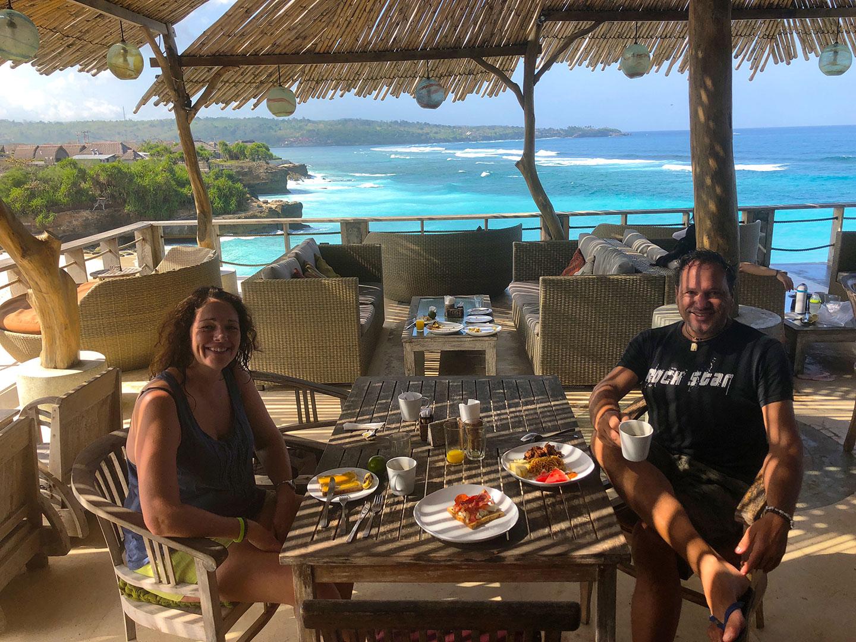 Ontbijten bij Dream Beach Huts