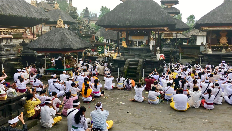 Hindoeïstiche ceremonie in de Pura Besakih