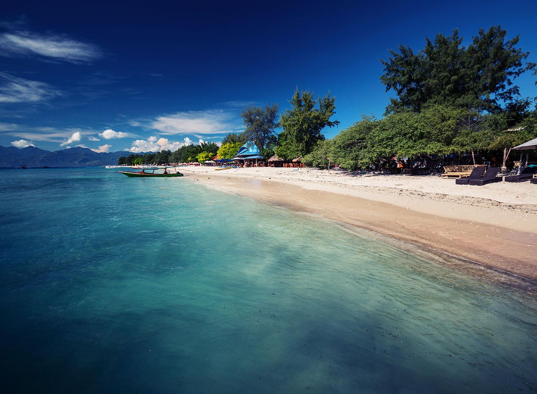 Gili Trawangan strand en zee