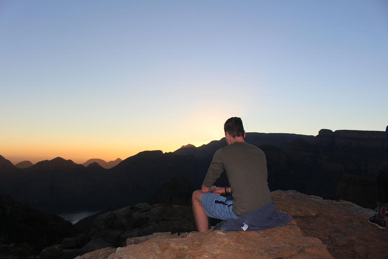 Zonsopkomst bij Blyde River Canyon