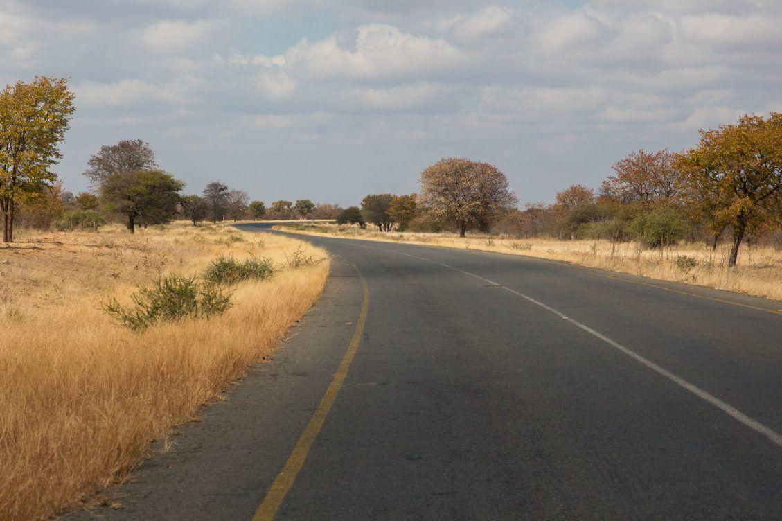 Autoweg centraal Botswana