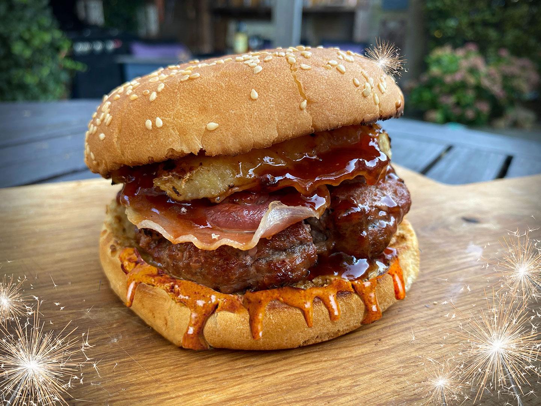 The Elvis burger. De ultieme Amerikaanse hamburger.