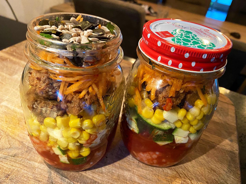 Mexicaanse maaltijdpot. Mexican Food Jar.